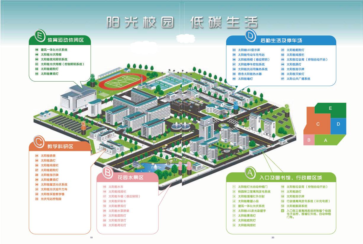 无锡外国语学校低碳校园规划图